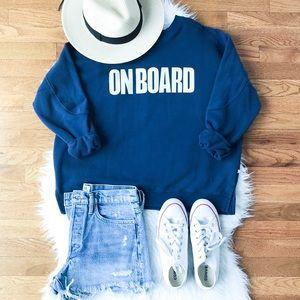ModCloth Kling on board boat nautical sweatshirt S